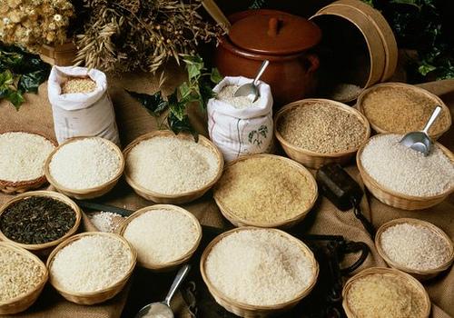 Những nguyên liệu gạo làm tranh gao