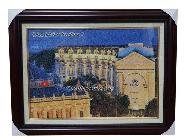 khách sạn Hilton Hà Nội Opera khách sạn Hilton Hà Nội Opera - Tranh gạo màu khách đặt làm quà tặng