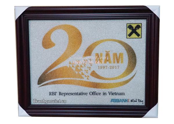 Quà tặng đối tác- Tranh đặt của ABBank kỷ niệm 20 năm RBI' Representative Office in VIet Nam