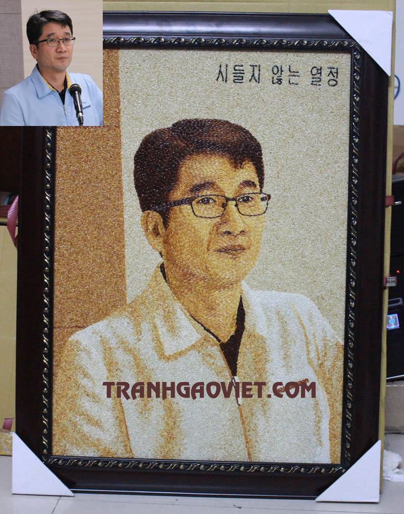 Chân dung khách đặt tặng sếp người Hàn Quốc