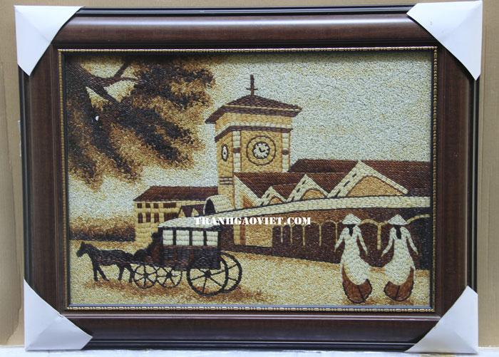 CHợ bến tranh - tranh gạo chợ bến thành