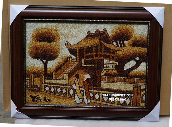 Tranh gạo chùa một cột Hà Nội