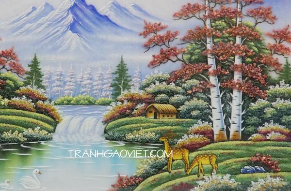 Tranh đá quý phong cảnh châu âu