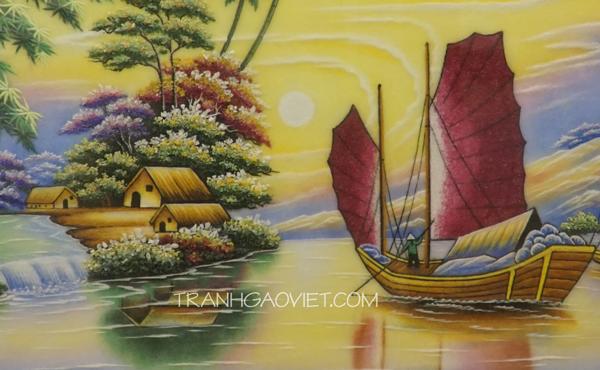 Thuận buồm xuôi giá size - tranh đá quý