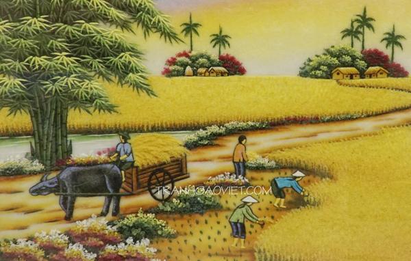 Tranh đá quý phong cảnh quê hương việt nam