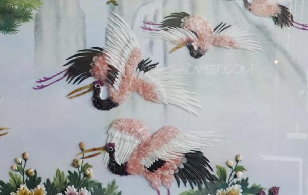Chim hạc được làm từ đá quý tỉ mỉ đến từng mini mét