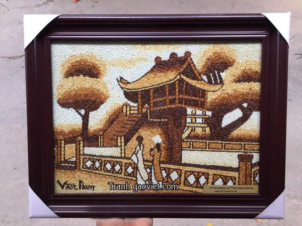 tranh gạo chùa một cột