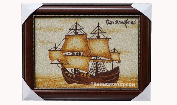 tranh gạo thuận buồm xuoi gió