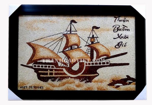 Tranh thuận buồm xuôi gió là biểu tượng của sự suôn sẻ, may mắn, thành công, đại cát đại lợi