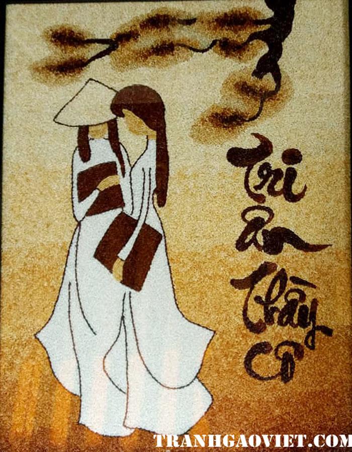 tranh gạo tri ân thầy cô