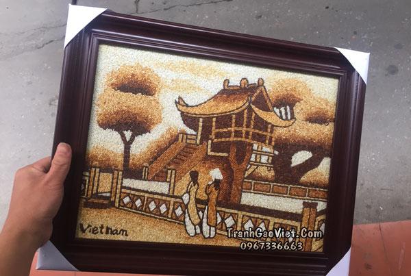 Những mẫu tranh gạo được khách hàng chọn làm quà lưu niệm
