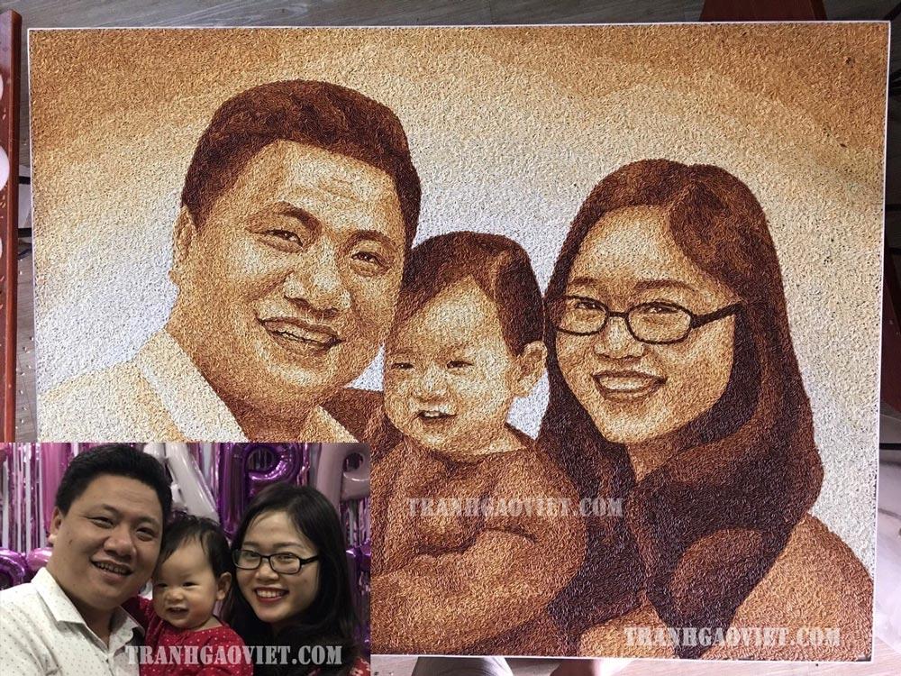 Tranh chân dung gia đình TGCD160
