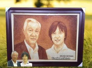 Quà tặng người Nhật| Tranh chân dung
