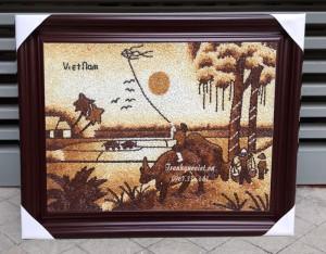 Tranh phong cảnh đồng quê- Cậu bé chăn trâu