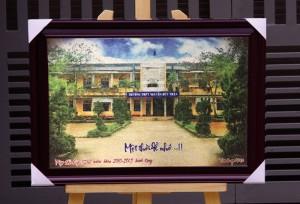 Tranh gạo màu quà tặng nhà trường