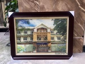Quà tặng nhà trường Tranh trường tiểu học Nghĩa Tân