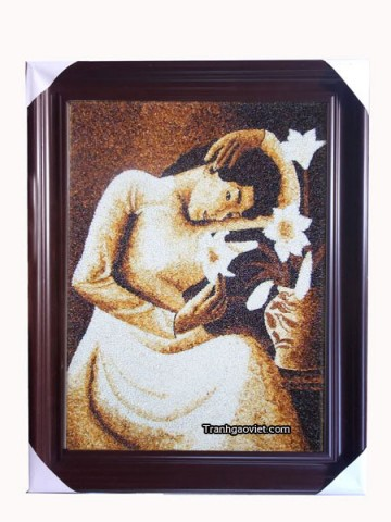 Thiếu nữ bên hoa