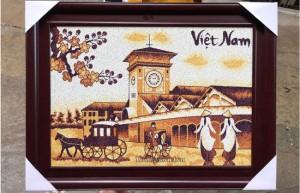 Tranh gạo Chợ Bến Thành