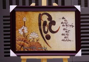 Tranh thư pháp chữ Lộc
