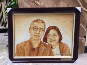 Tranh chân dung đôi vợ chồng của KPF đặt làm quà tặng
