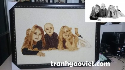 Tranh chân dung 3 chị em