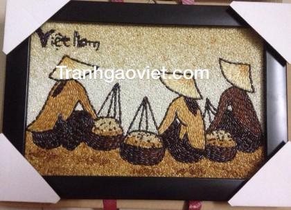 Tranh gạo chợ quê