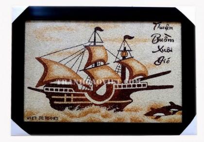 Tranh gạo thuyền buồm