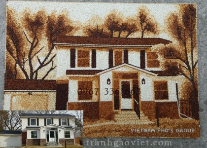 Tranh đặt mẫu ngôi nhà